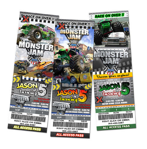 Best ideas about Monster Jam Birthday Invitations . Save or Pin 18 desings MONSTER JAM TRUCK BIRTHDAY PARTY INVITATION Now.