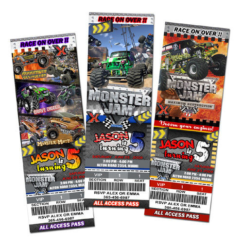 Best ideas about Monster Jam Birthday Invitations . Save or Pin MONSTER JAM TRUCK BIRTHDAY PARTY INVITATION invite 1ST Now.