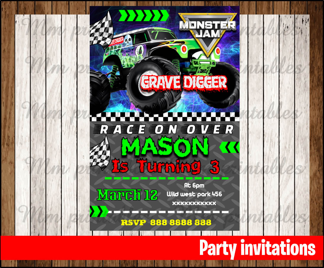 Best ideas about Monster Jam Birthday Invitations . Save or Pin 50 OFF SALE Monster jam Invitation Monster jam Birthday Now.
