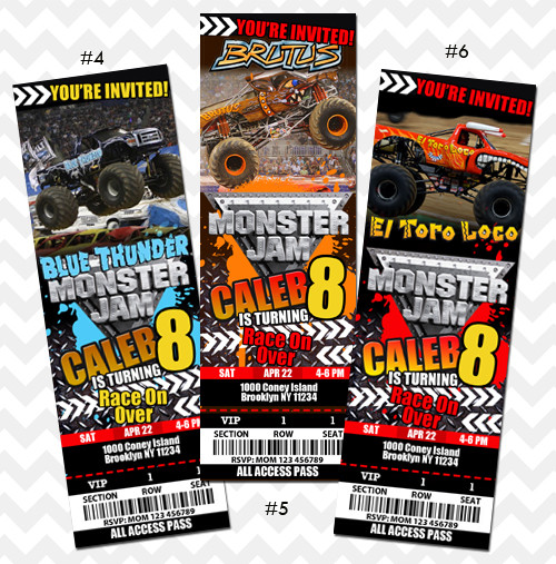 Best ideas about Monster Jam Birthday Invitations . Save or Pin Monster Jam Invitation on Storenvy Now.