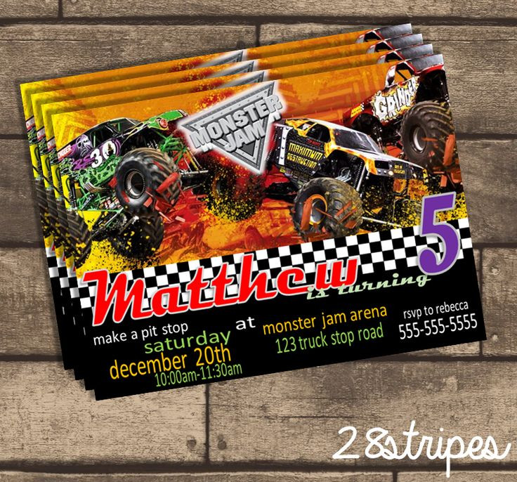 Best ideas about Monster Jam Birthday Invitations . Save or Pin Monster Jam Themed Monster Truck Birthday Party Now.