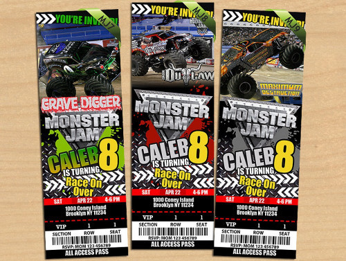 Best ideas about Monster Jam Birthday Invitations . Save or Pin MONSTER JAM Truck INVITATION Now.
