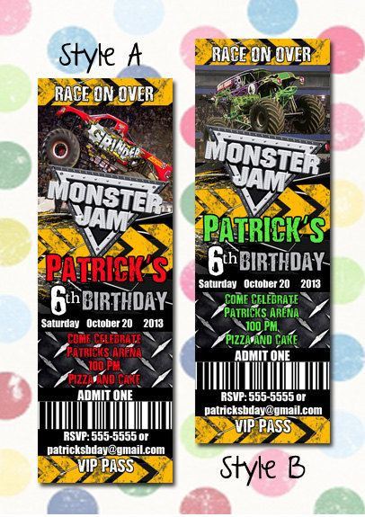 Best ideas about Monster Jam Birthday Invitations . Save or Pin Monster Jam Monster Trucks Birthday Party Invitation Now.