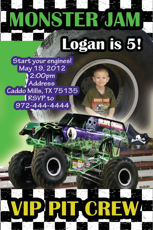 Best ideas about Monster Jam Birthday Invitations . Save or Pin Monster Jam Party Invitations Now.