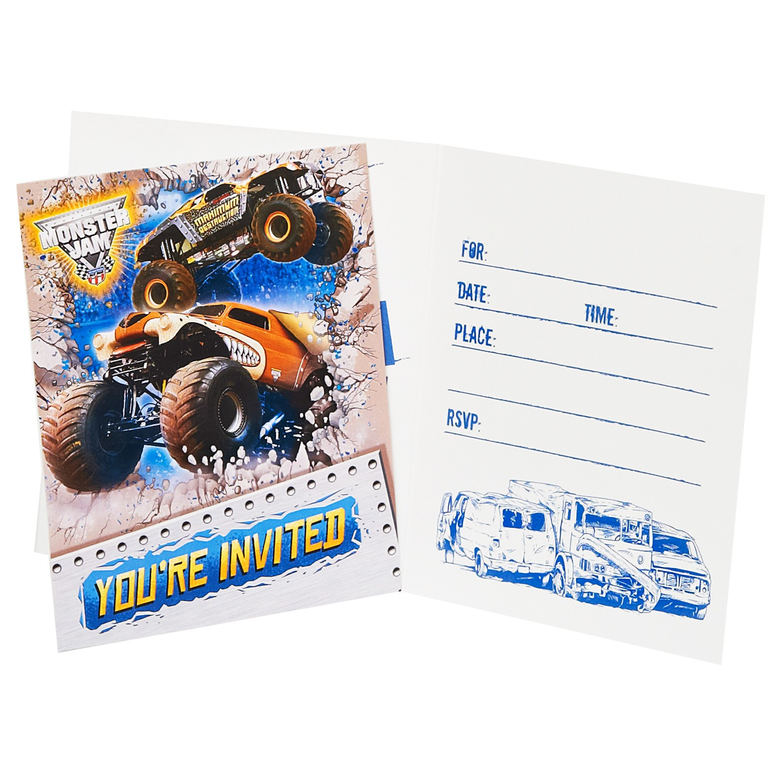 Best ideas about Monster Jam Birthday Invitations . Save or Pin Monster Jam Party Supplies and Invitations This party Now.