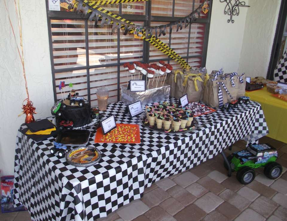 """Best ideas about Monster Jam Birthday Party . Save or Pin Monster Jam Birthday """"Alex s 4th Monster Jam Bash Now."""