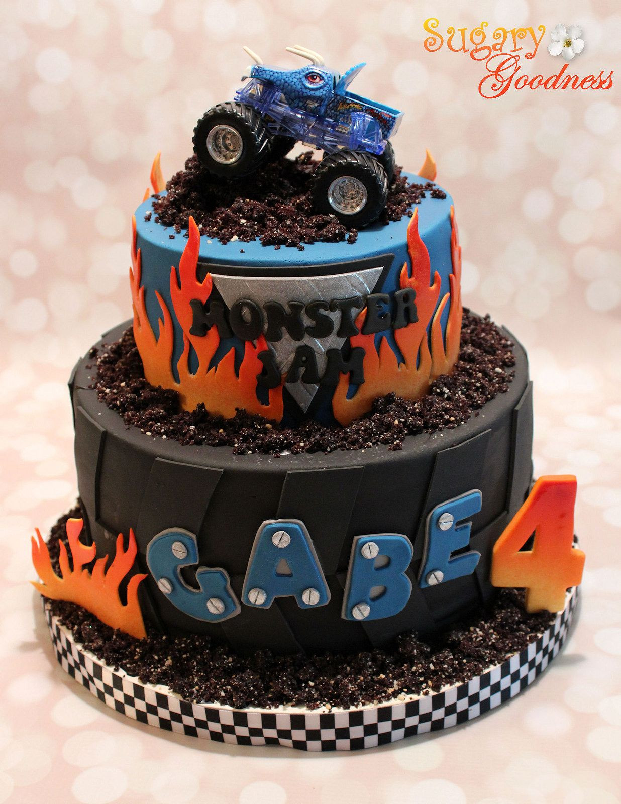 Best ideas about Monster Truck Birthday Cake . Save or Pin Monster Jam Cake Transportation Cake Now.