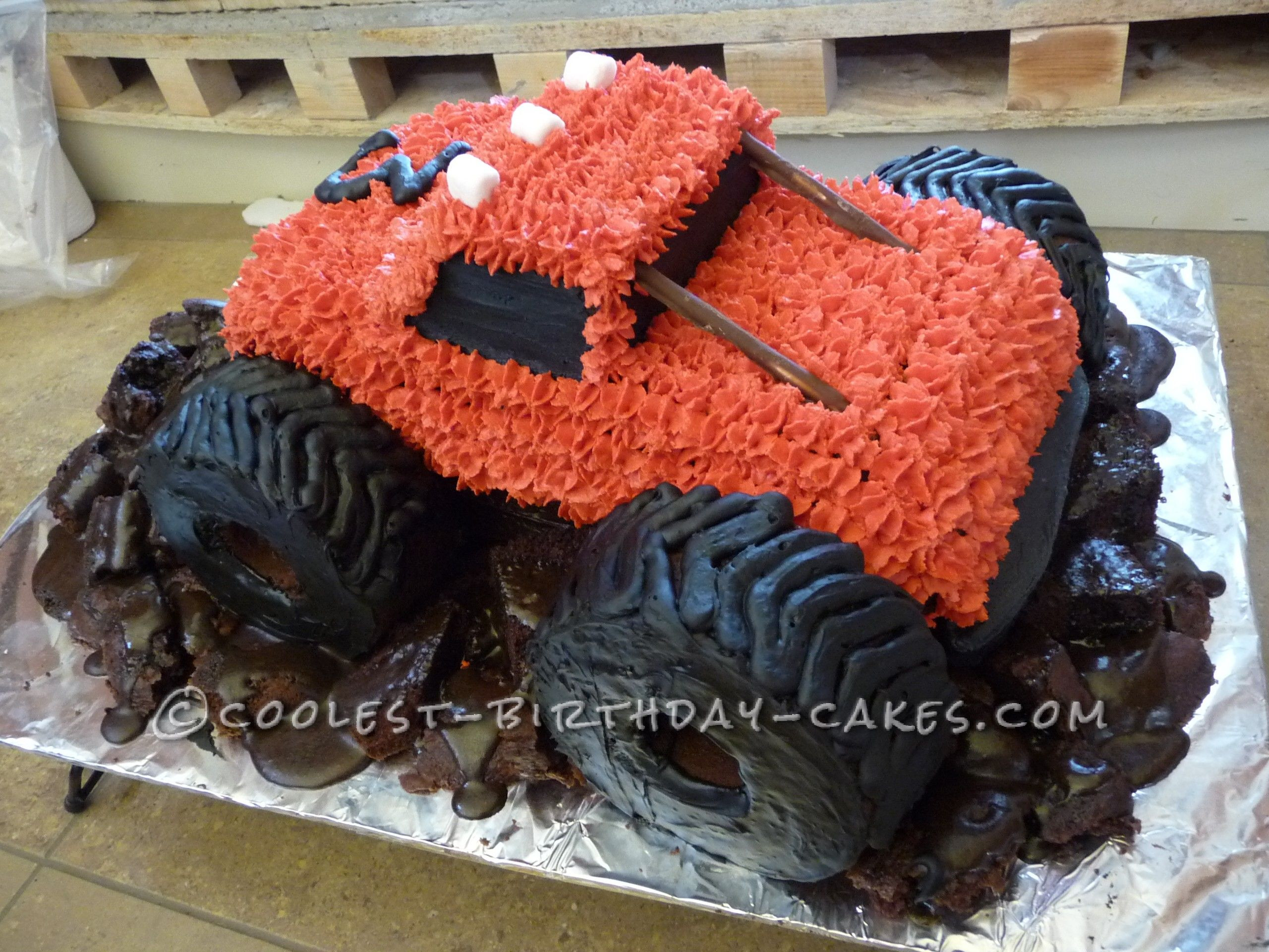 Best ideas about Monster Truck Birthday Cake . Save or Pin Muddy Monster Truck Birthday Cake Now.