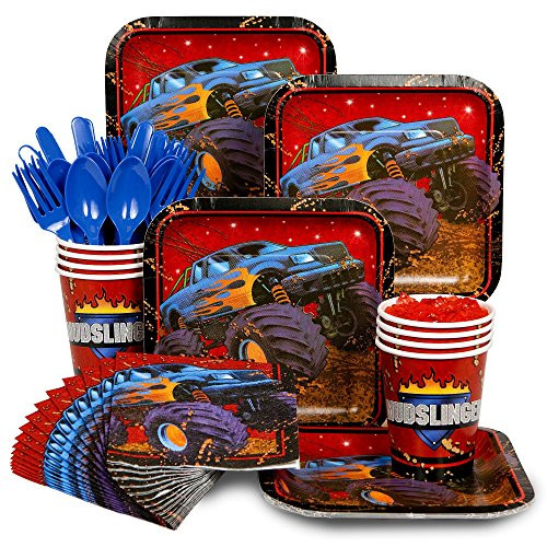 Best ideas about Monster Truck Birthday Party Supply . Save or Pin Monster Truck Party Supplies Amazon Now.