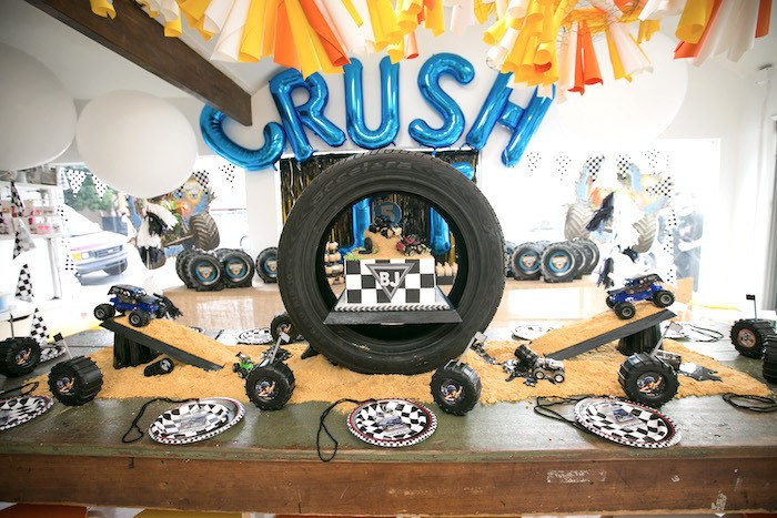 Best ideas about Monster Truck Birthday Party Supply . Save or Pin Kara s Party Ideas Monster Truck Birthday Party Now.
