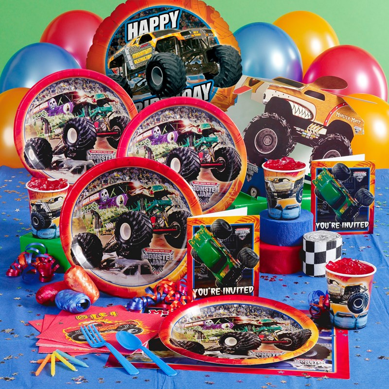 Best ideas about Monster Truck Birthday Party Supply . Save or Pin Monster Jam Party Supplies Now.