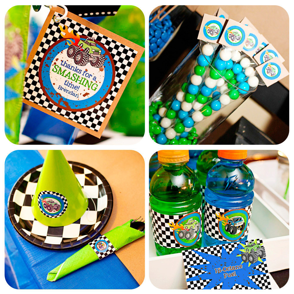 Best ideas about Monster Truck Birthday Party Supply . Save or Pin Monster Truck Party Monster Truck Birthday by Now.