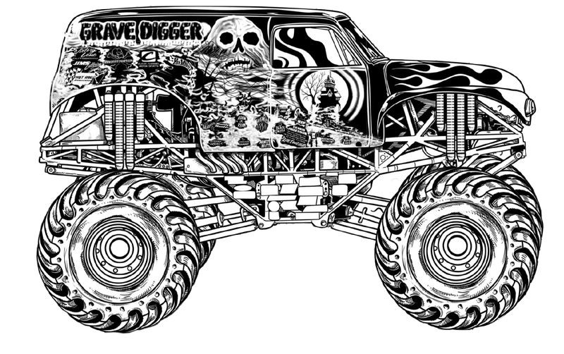 Best ideas about Monster Trucks Printable Coloring Pages . Save or Pin Download Grave Digger Monster Truck Coloring Pages Now.