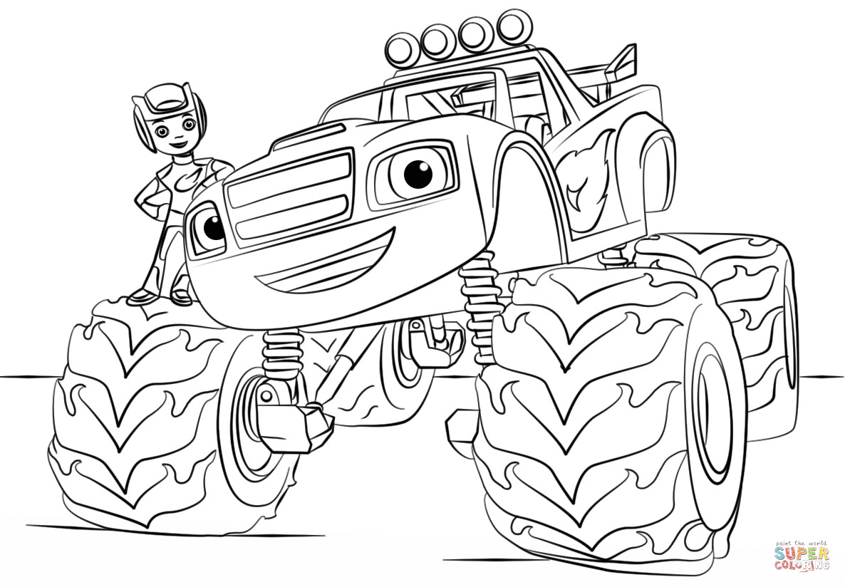 Best ideas about Monster Trucks Printable Coloring Pages . Save or Pin Monster Truck Coloring Pages For Kids AZ Coloring Pages Now.