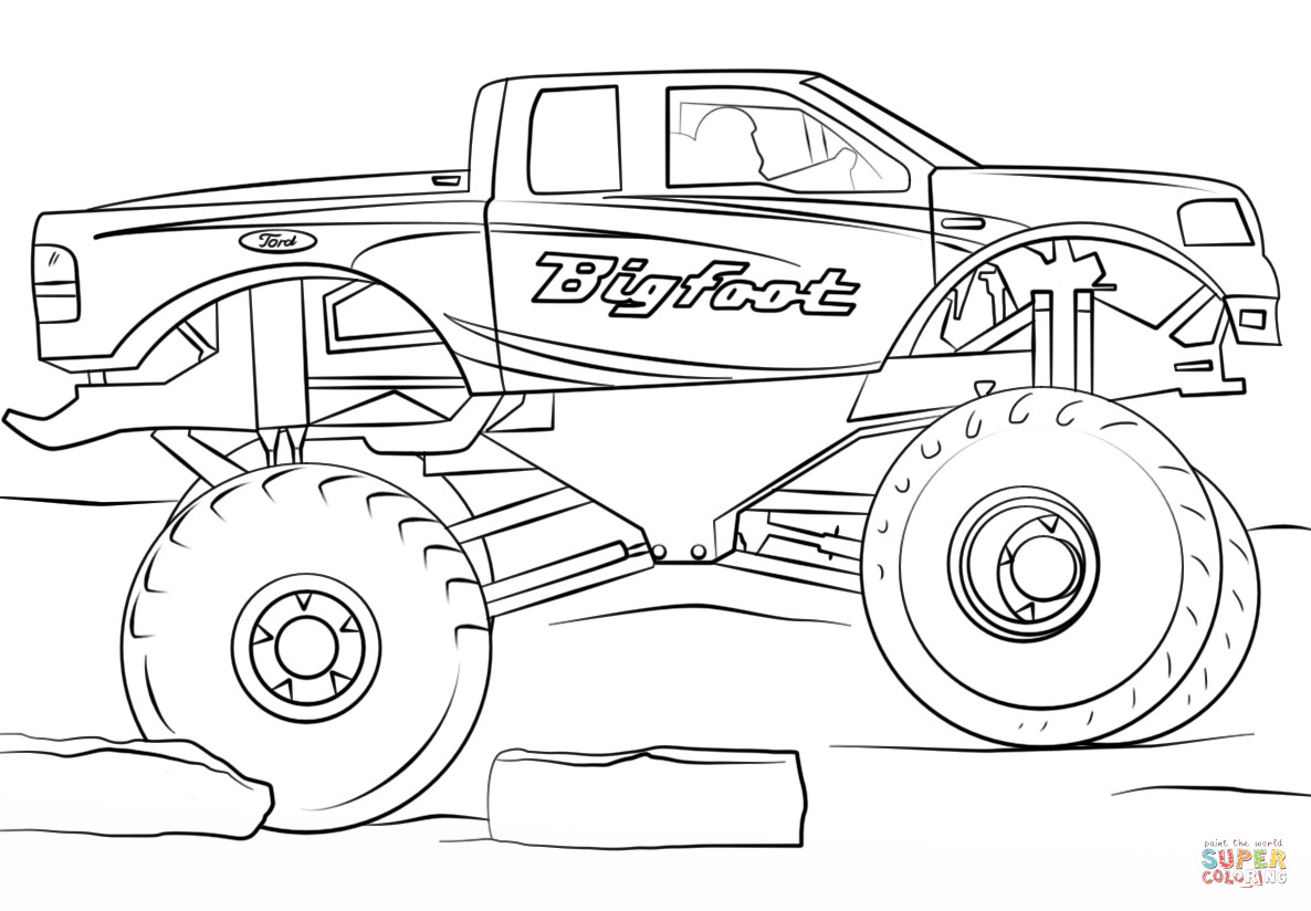 Best ideas about Monster Trucks Printable Coloring Pages . Save or Pin Bigfoot Monster Truck coloring page Now.