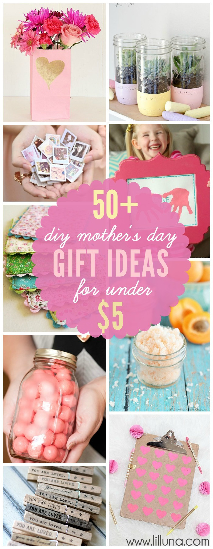 Best ideas about Mother Day Gifts DIY . Save or Pin DIY Mother s Day Gifts for under 5 Now.