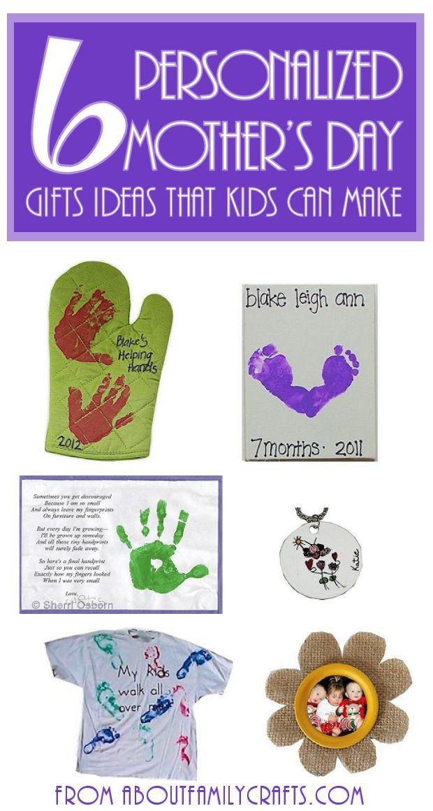 Best ideas about Mother'S Day Gift Ideas From Kids . Save or Pin 6 Mother's Day Gifts for Kids to Make e or all of Now.