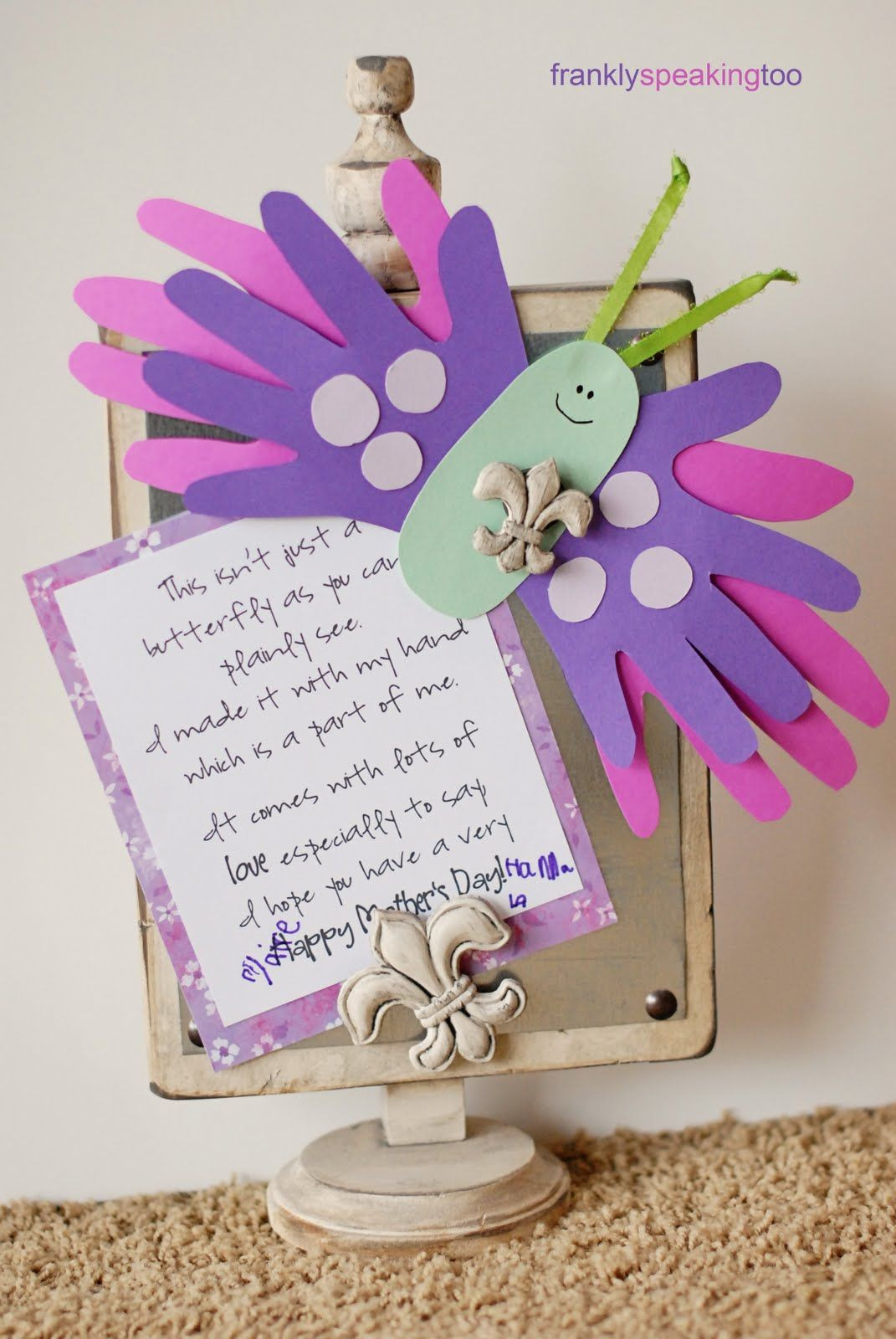 Best ideas about Mother'S Day Gift Ideas From Kids . Save or Pin Frankly Speaking Too iLoveToCreate Butterfly Mother s Now.