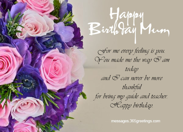 Best ideas about Mothers Birthday Wish . Save or Pin Birthday Wishes for Mother 365greetings Now.