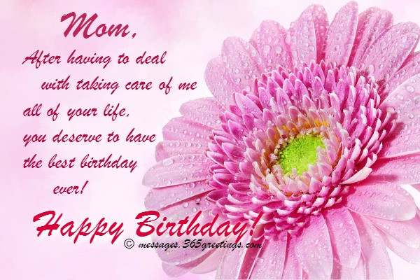 Best ideas about Mothers Birthday Wishes . Save or Pin Birthday Wishes for Mother 365greetings Now.