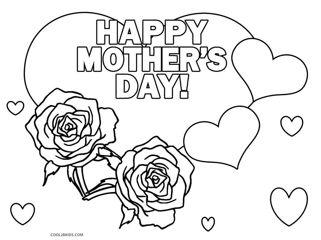 Best ideas about Mothers Day Coloring Sheets For Kids . Save or Pin Free Printable Mothers Day Coloring Pages For Kids Now.