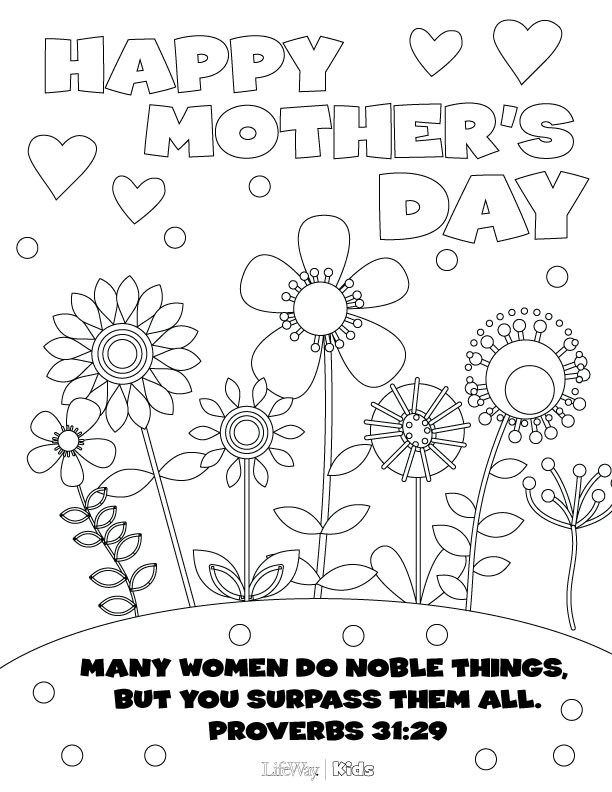 Best ideas about Mothers Day Coloring Sheets For Kids . Save or Pin Mother's Day Coloring Pages Now.