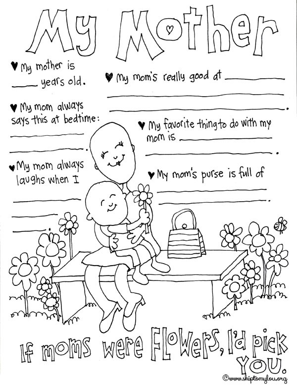 Best ideas about Mothers Day Coloring Sheets For Kids . Save or Pin Mother s Day Coloring Pages to Celebrate the BEST Mom Now.