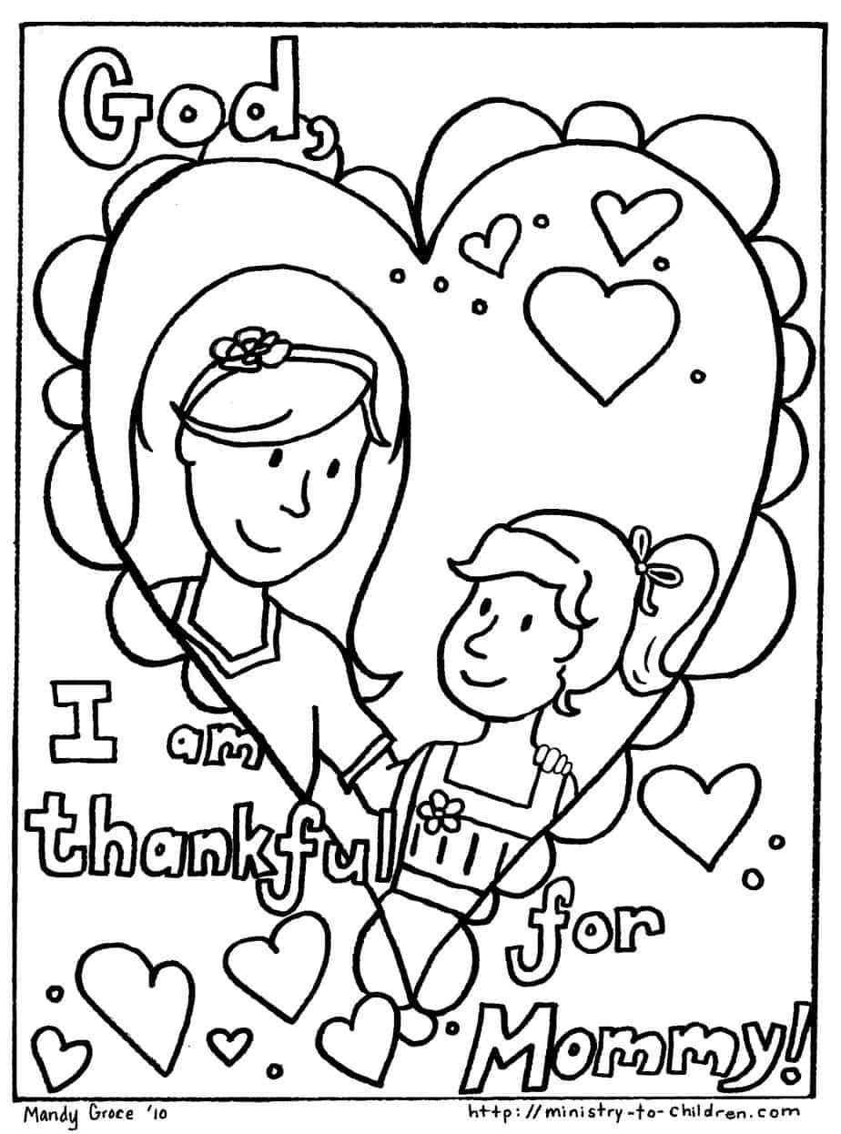 Best ideas about Mothers Day Coloring Sheets For Kids . Save or Pin Mother s Day Coloring Pages Free Easy Print PDF Now.