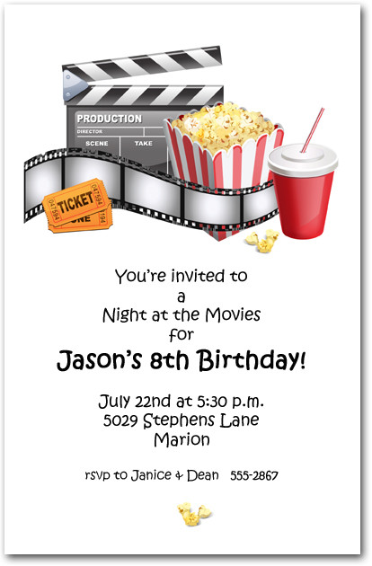 Best ideas about Movie Birthday Party Invitations . Save or Pin At the Movies Party Invitations Movie Birthday Party Now.