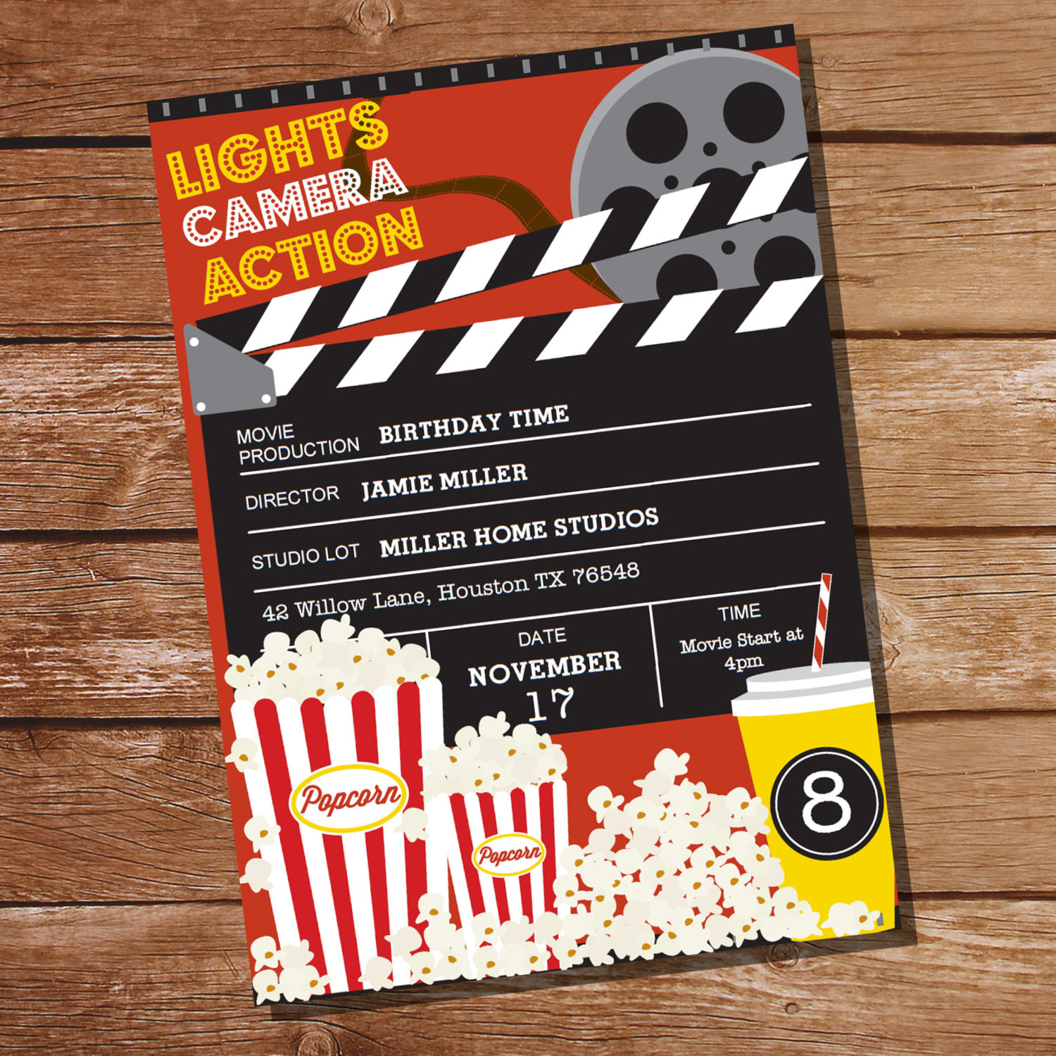 Best ideas about Movie Birthday Party Invitations . Save or Pin Movie Party Invitation Movie Ticket Invitation Instant Now.