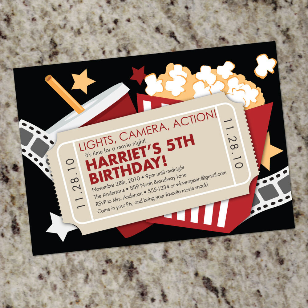Best ideas about Movie Birthday Party Invitations . Save or Pin Movie Theater Themed Birthday Party Invitations FREE Now.