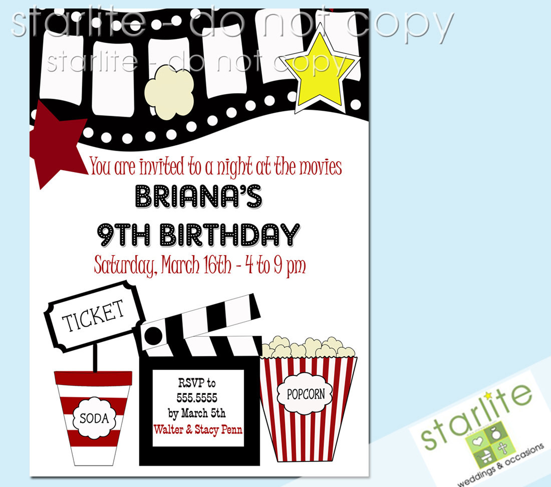 Best ideas about Movie Birthday Party Invitations . Save or Pin Free Printable Kids Birthday Party Invitations Templates Now.