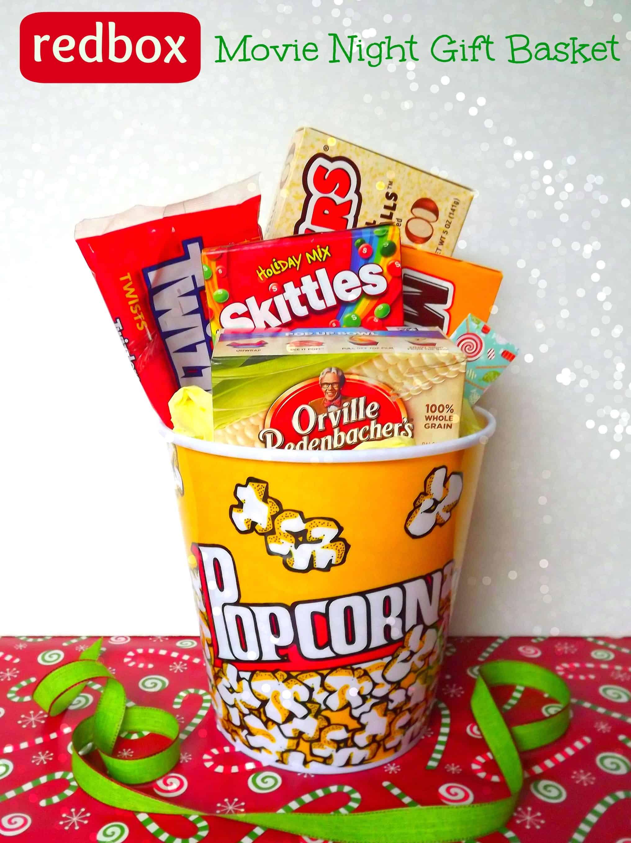 Best ideas about Movie Night Gift Basket Ideas . Save or Pin DIY Movie Night Redbox Gift Basket Teacher Gift Idea Now.