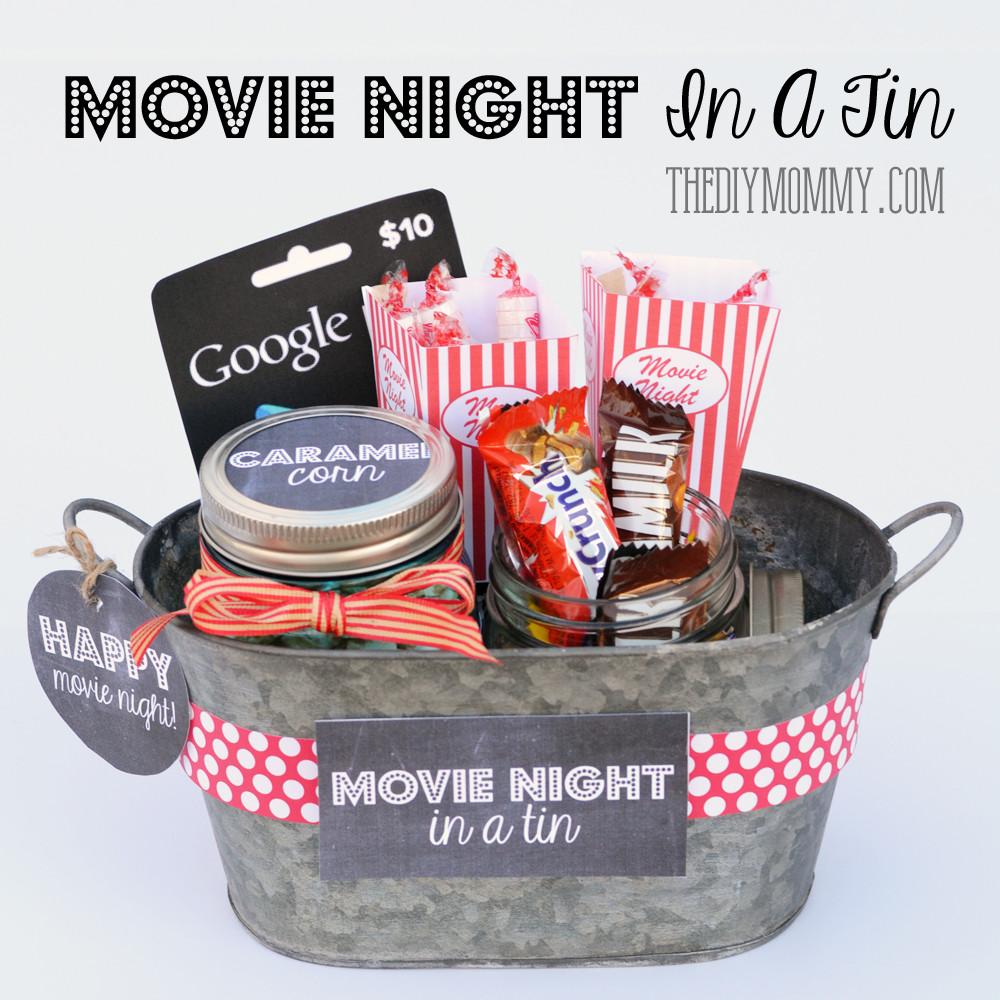 Best ideas about Movie Night Gift Basket Ideas . Save or Pin A Gift In a Tin Movie Night in a Tin Now.