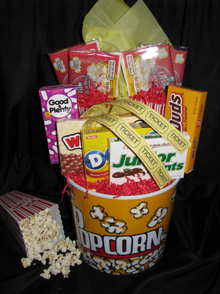 Best ideas about Movie Night Gift Basket Ideas . Save or Pin 1000 images about date night and couples t baskets on Now.