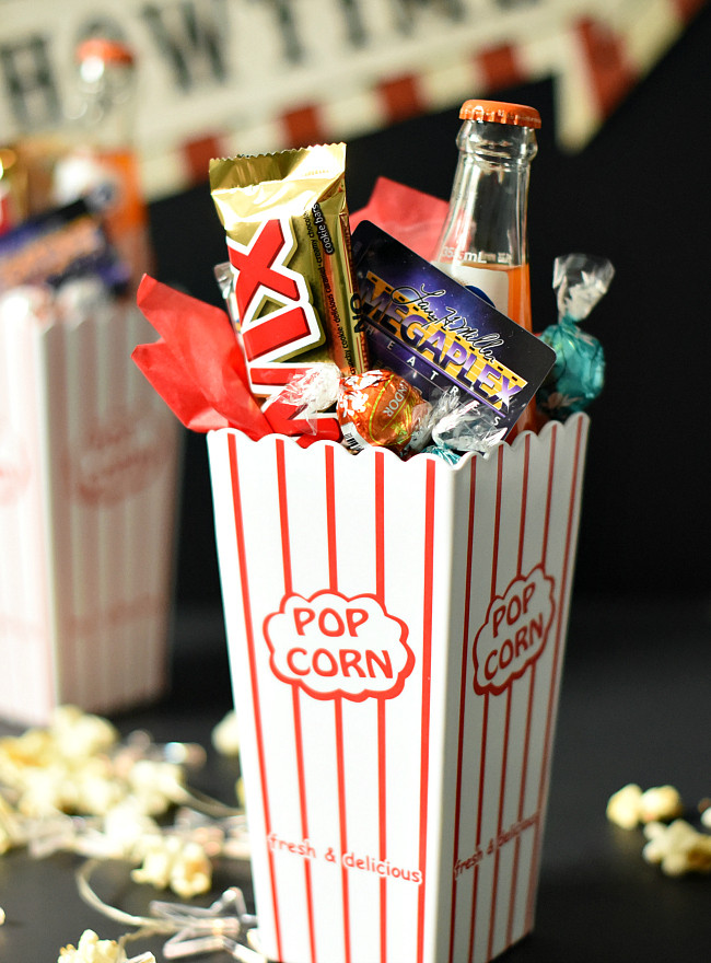 Best ideas about Movie Night Gift Basket Ideas . Save or Pin Movie Night Gift Idea – Fun Squared Now.