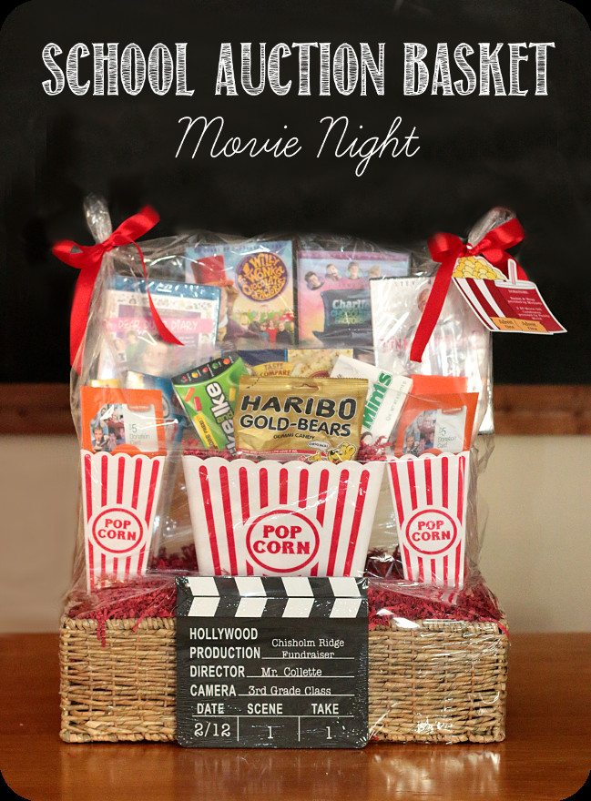 Best ideas about Movie Night Gift Basket Ideas . Save or Pin School Fundraiser Auction Basket Movie Night Sources Now.