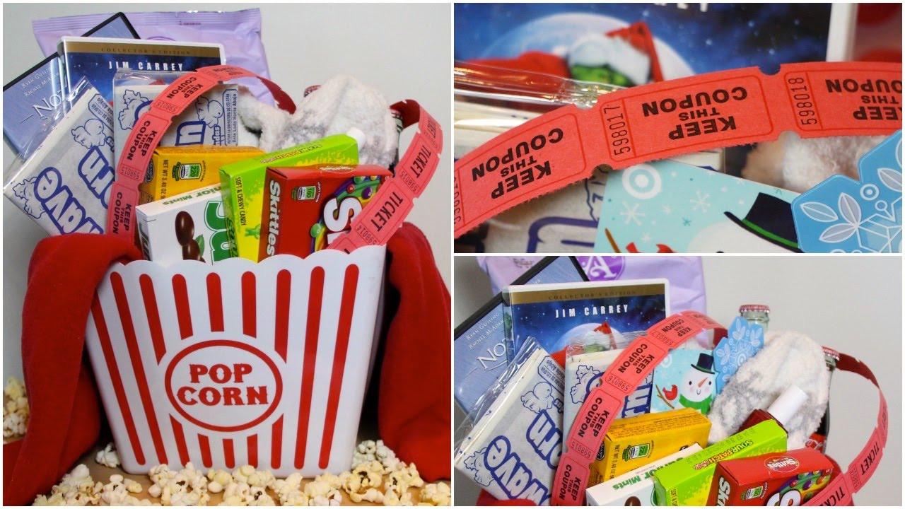 Best ideas about Movie Night Gift Basket Ideas . Save or Pin DIY MOVIE NIGHT GIFT BASKET Now.