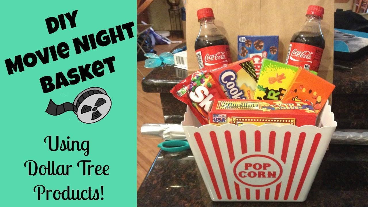 Best ideas about Movie Night Gift Basket Ideas . Save or Pin Dollar Tree Gift Basket Idea Now.