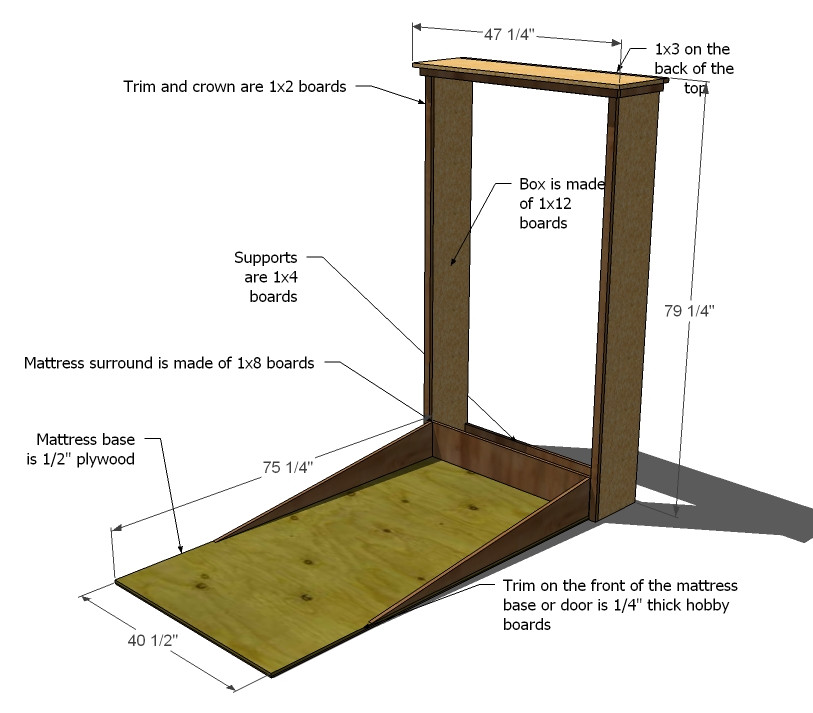 Best ideas about Murphy Bed DIY . Save or Pin $150 murphy bed Now.