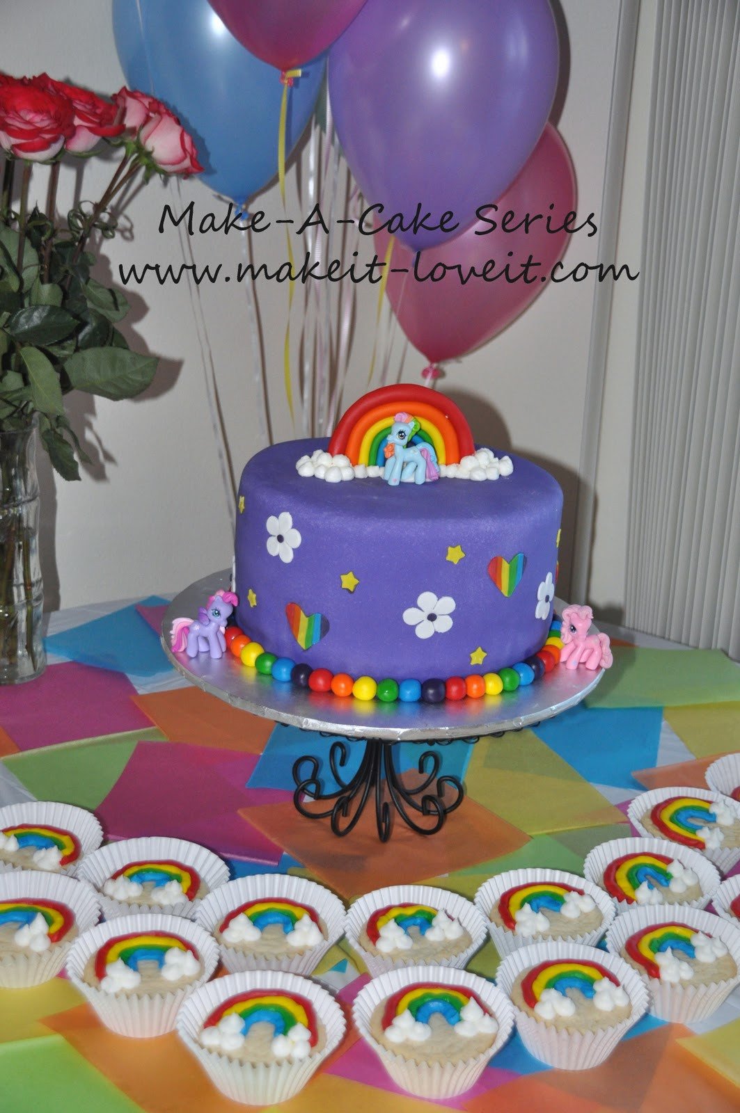 Best ideas about My Little Pony Birthday Cake . Save or Pin Make a Cake Series My Little Pony Cake and Rainbow Now.