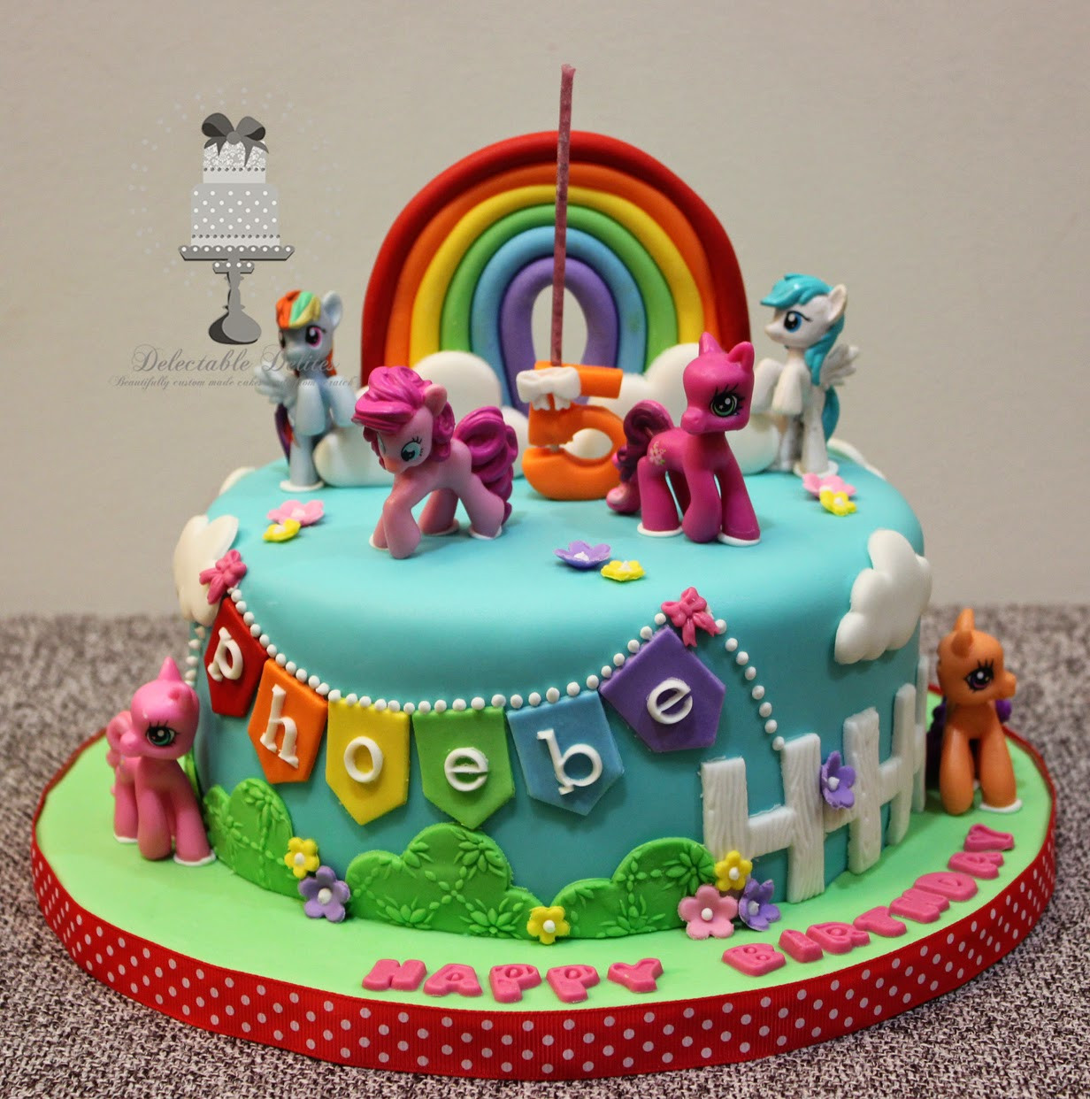 Best ideas about My Little Pony Birthday Cake . Save or Pin Delectable Delites My Little Pony cake for Phoebe s 5th Now.
