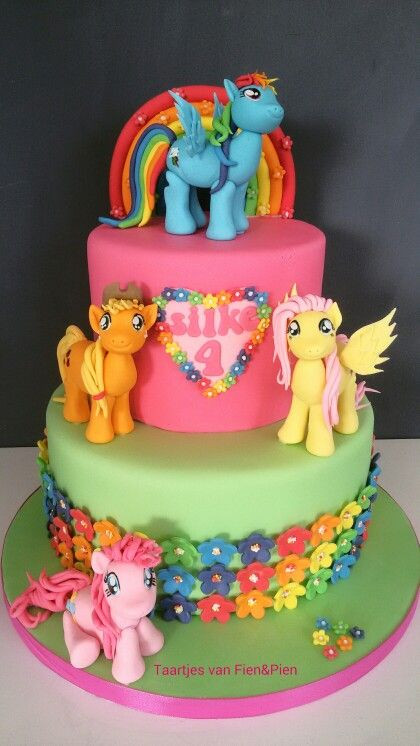 Best ideas about My Little Pony Birthday Cake . Save or Pin My Little Pony cake love the flowers on the bottom tier Now.