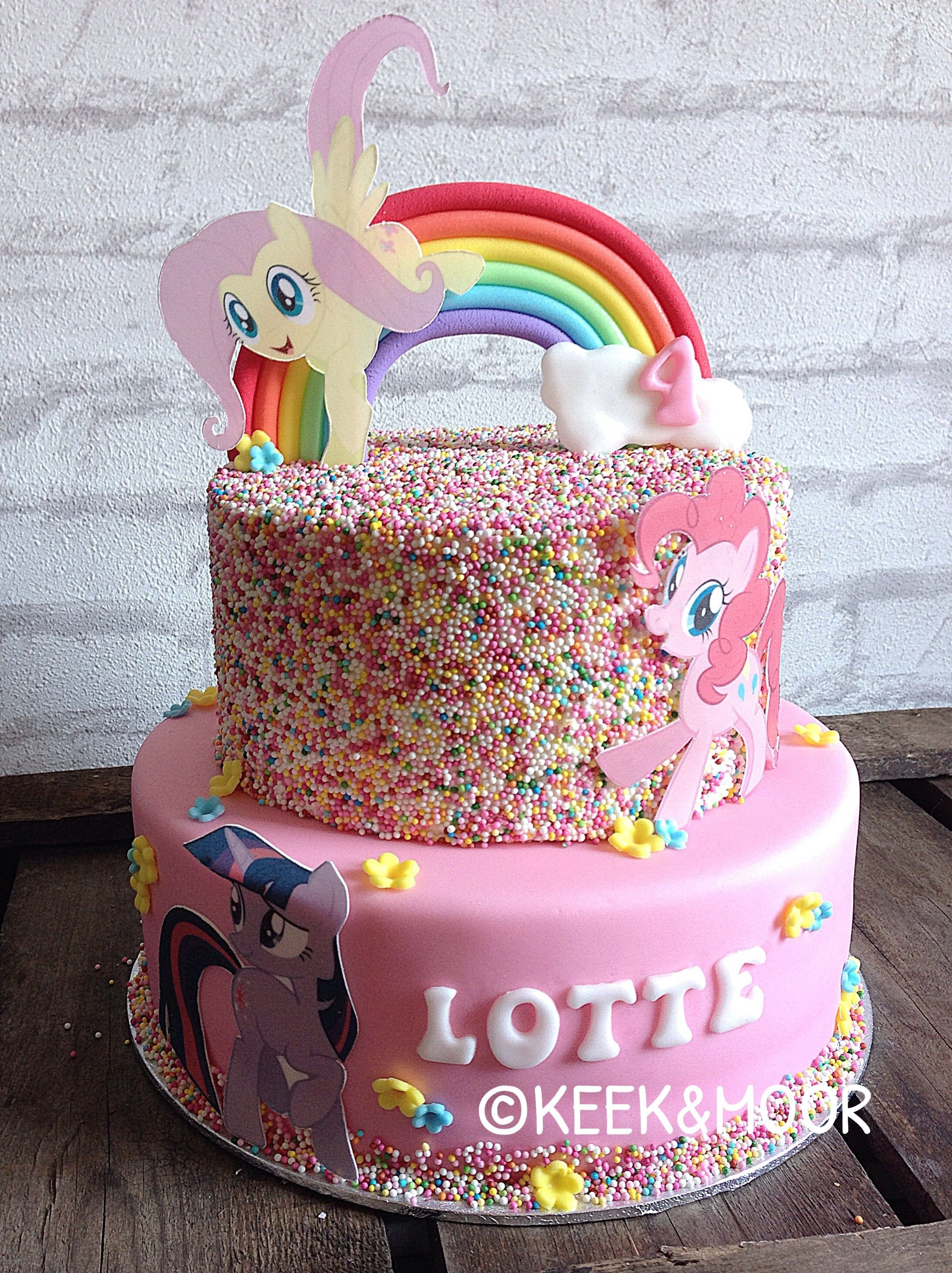 Best ideas about My Little Pony Birthday Cake . Save or Pin My Little Pony cake with sprinkles Now.