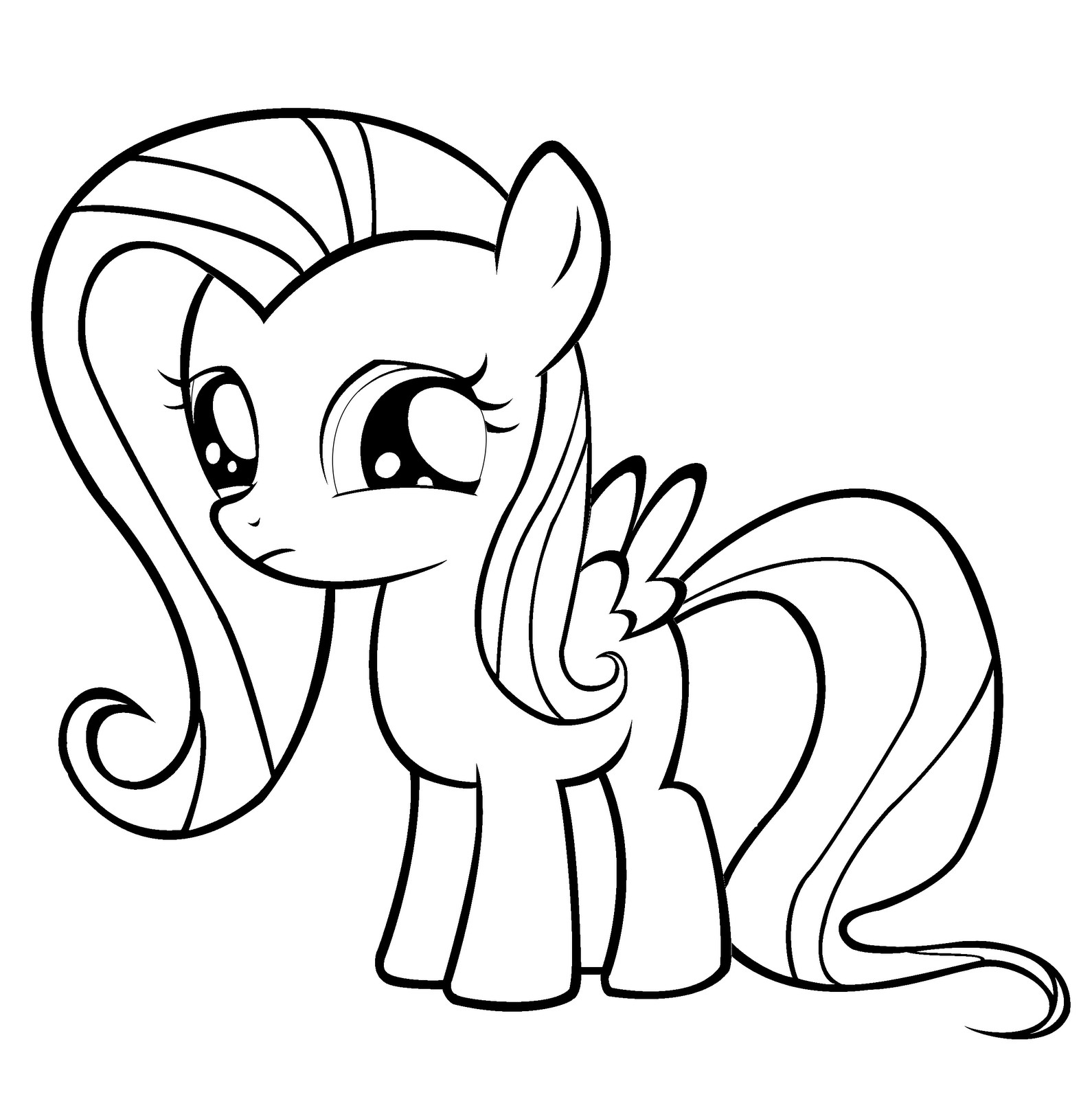 Best ideas about My Little Pony Coloring Pages For Kids . Save or Pin Fluttershy Coloring Pages Best Coloring Pages For Kids Now.