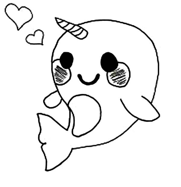 Best ideas about Narwhal Coloring Pages For Kids . Save or Pin Cute Baby Narwhal Coloring Page NetArt Now.