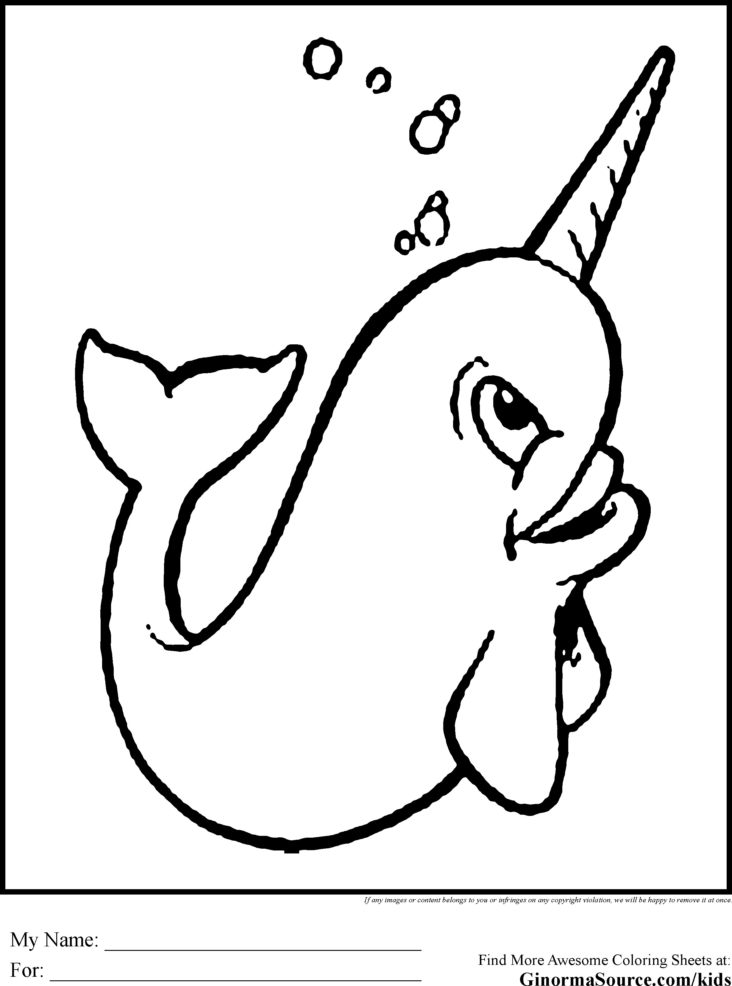 Best ideas about Narwhal Coloring Pages For Kids . Save or Pin Narwhal Coloring Pages GINORMAsource Kids Now.