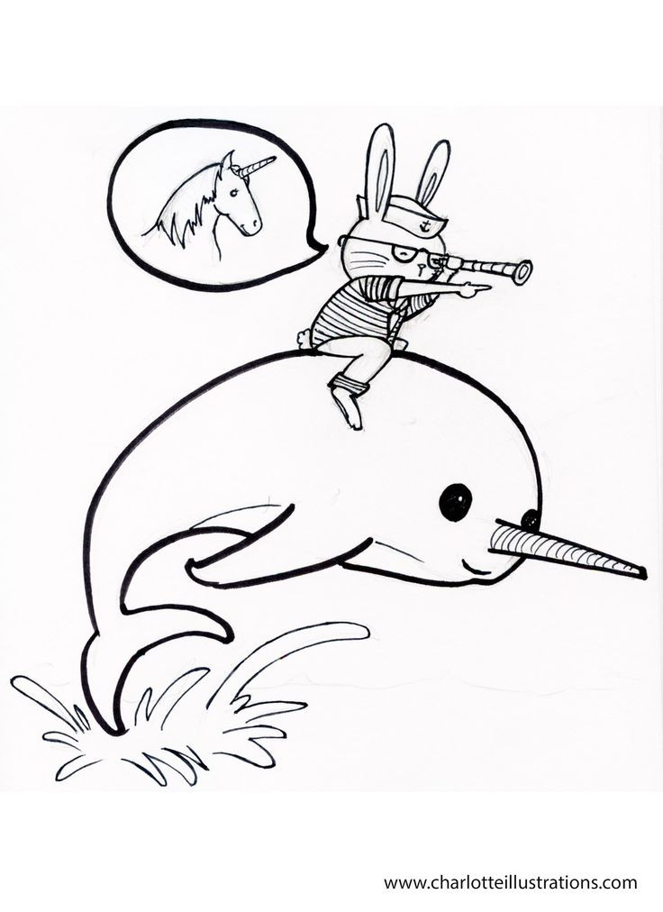 Best ideas about Narwhal Coloring Pages For Kids . Save or Pin Narwhal Coloring Pages Cakes Transfer ideas Now.