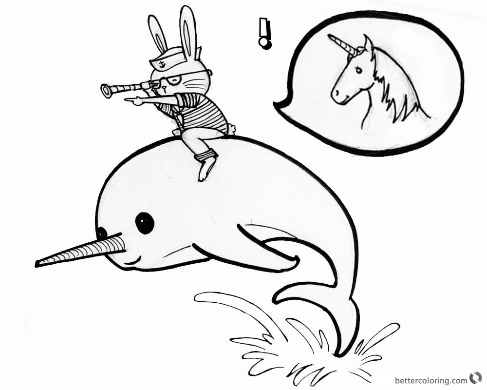 Best ideas about Narwhal Coloring Pages For Kids . Save or Pin Narwhal Coloring Pages Cat Ride on A Narwhal Free Now.