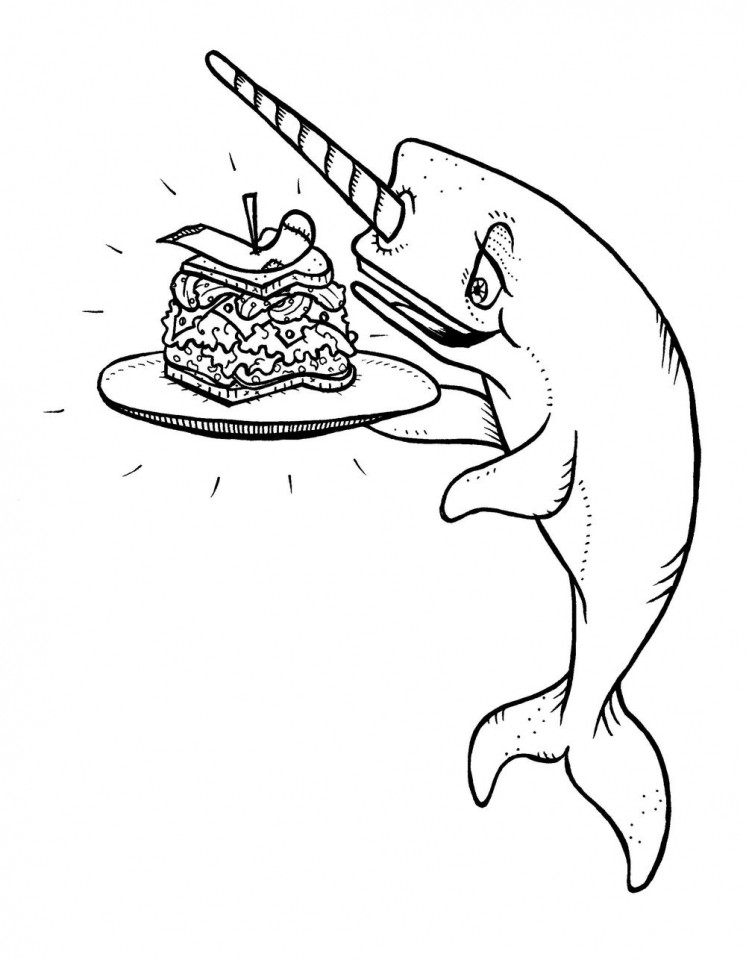 Best ideas about Narwhal Coloring Pages For Kids . Save or Pin Narwhal Pages Adult Coloring Pages Now.